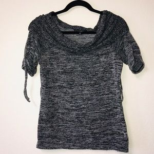 Heart Soul Gray Top with Boat Neckline